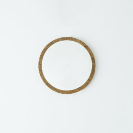 OSB丸形ウォールミラー(40) (ブラウン/茶) 直径40cm 鏡/スリム/高級感/ヴィンテージ/ブルックリン/飛散防止加工/壁掛け/オシャレ/北欧風/オーバル/日本製/完成品/NK-13