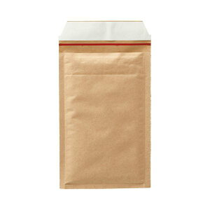 TANOSEE クッション封筒 小物用 内寸130×215mm 茶 1セット(1000枚:200枚×5ケース)