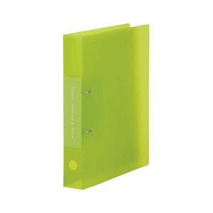 (まとめ) キングジム シンプリーズ Dリングファイル A4タテ型 背幅46mm 透明 キミドリ 【×20セット】