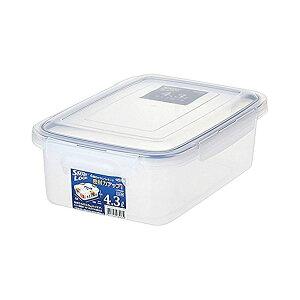 (まとめ) 保存容器/ロック式ジャンボケース 【4.3L】 銀イオン(AG+)配合 抗菌仕様 日本製 キッチン用品 【×32個セット】