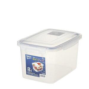 (まとめ) 保存容器/ロック式ジャンボケース 【8L】 銀イオン(AG+)配合 抗菌仕様 日本製 キッチン用品 【×24個セット】