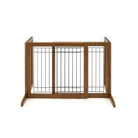ペット用木製おくだけゲート ブラウン【ペット用品】