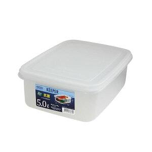 (まとめ) 保存容器/ジャンボケース 【M】 抗菌効果 キッチン用品 『キーパー』 【×24個セット】