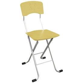 折りたたみ椅子 【2脚セット ナチュラル×シルバー】 幅40cm 日本製 スチールパイプ 『レイラチェア』【代引不可】