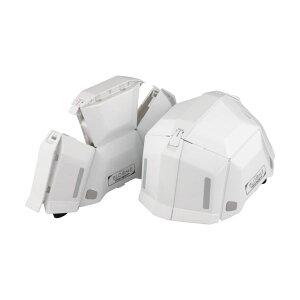 トーヨーセフティー 防災用折りたたみヘルメット BLOOM2 ホワイト NO.101-WH 1個