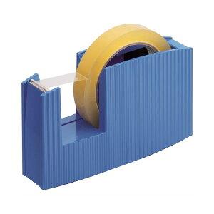 (まとめ) ライオン事務器 テープカッター(フリス)太巻用 50×175×105mm ブルー TC-20 1台 【×10セット】