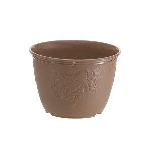 (まとめ) 植木鉢/プランター 【7号】 チョコブラウン プラスチック製 ガーデニング用品 園芸 『ビオラデコ』 【90個セット】