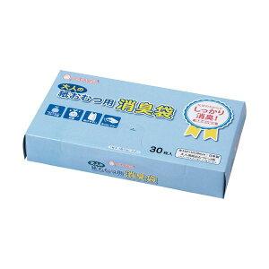 (まとめ)マルアイ 消臭袋 大人の紙おむつ用BOXシヨポリ-220 1箱(30枚)【×10セット】