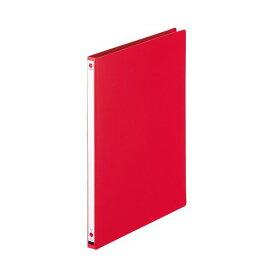 (まとめ) ライオン事務器 パームファイル 強化Z式A4タテ 120枚収容 背幅18mm 赤 No.85-A4S 1冊 【×30セット】