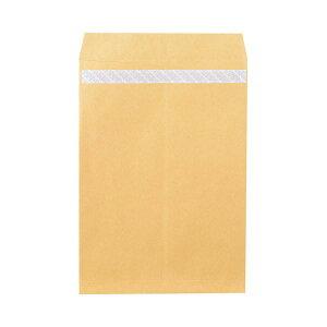 (まとめ)ピース R40再生紙クラフト封筒テープのり付 角1 85g/m2 業務用パック 703 1箱(500枚)【×3セット】