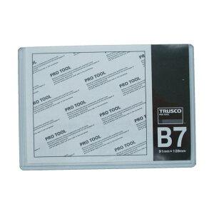 (まとめ) TRUSCO 厚口カードケース B7THCCH-B7 1枚 【×100セット】