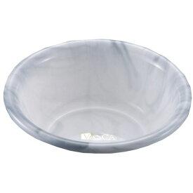 (まとめ) 風呂桶/湯桶 【グレー】 直径27×高さ10cm大理石調 洗面器 バス用品 バスカTR 【×30個セット】
