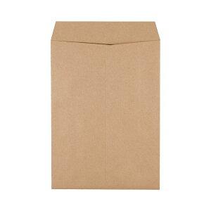 (まとめ) ピース 発送用封筒スーパークラフト テープなし 角2 100g/m2 業務用パック 733-00 1箱(500枚) 【×5セット】
