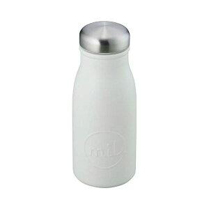 ステンレス製 マグボトル/水筒 【アイボリー】 350ml 回転式フタ ステンレス真空断熱構造 保温&保冷OK 『ミル』