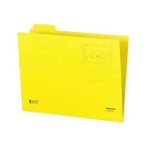 (まとめ)コクヨ 1/4カットフォルダー(カラー)A4 第1見出し 黄 A4-4F-1Y 1セット(10冊)【×20セット】