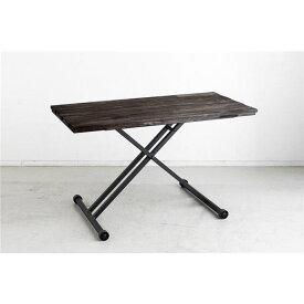 昇降テーブル/センターテーブル 【ブラウン】 幅120cm 日本製 スチール製脚付き 『TMクランゼ』 【組立品】 〔リビング〕【代引不可】