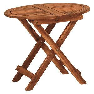 折りたたみ式 サイドテーブル/ミニテーブル 【幅55×奥行40×高さ46cm】 木製 オイル仕上げ 〔リビング〕【代引不可】