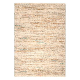 ベルギー ラグマット/絨毯 【140cm×200cm アイボリー】 長方形 高耐久 ウィルトン 『SHERPA COSY』 〔リビング〕【代引不可】