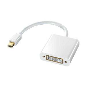 (まとめ)サンワサプライ MiniDisplayPort-DVI変換アダプタ ホワイト AD-MDPDVA01 1個【×3セット】
