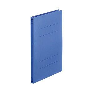(まとめ) TANOSEEフラットファイル(再生PP) A4タテ 150枚収容 背幅18mm ロイヤルブルー1セット(25冊:5冊×5パック) 【×10セット】