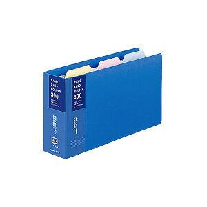 (まとめ) コクヨ 名刺ホルダー(替紙式) 2穴300名 タテ入れ 青 メイ-30B 1冊 【×30セット】