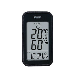 TANITA デジタル温湿度計 ブラック 100-04G【代引不可】