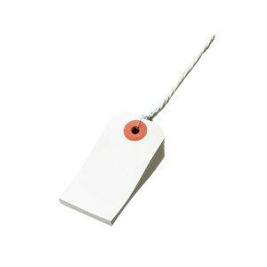 (まとめ) TANOSEE 再生紙針金荷札 6号 30×60mm 1箱(1000枚) 【×10セット】