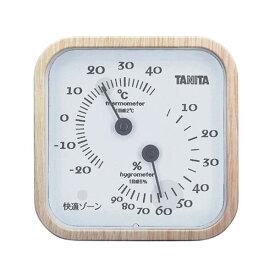 TANITA 温湿度計 ナチュラル 388-10G【代引不可】