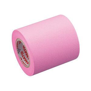 (まとめ) ヤマト メモック ロールテープ 蛍光紙詰替用 50mm幅 ローズ RK-50H-RO 1巻 【×50セット】