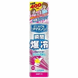 白元アース どこでもアイスノン ジェットコールド せっけんの香り 大容量 400ml (1802-0103)