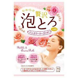牛乳石鹸 お湯物語 贅沢泡とろ 入浴料 ジュエリーローズの香り 30g