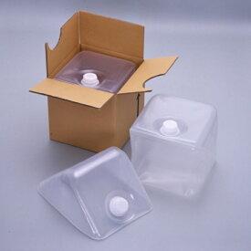 フレキシブル液体容器「キュービテーナー」 内容器+スクリュー式キャップ+段ボール 10L 50個セット