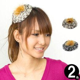 レオパード柄ミニベレー帽