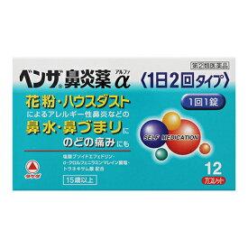 【第(2)類医薬品】[タケダ]ベンザ鼻炎薬α 1日2回タイプ 12錠【おひとり様1個まで】