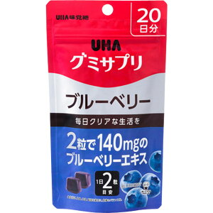 [ユーハ味覚糖]UHA グミサプリ ブルーベリー 20日分 40粒