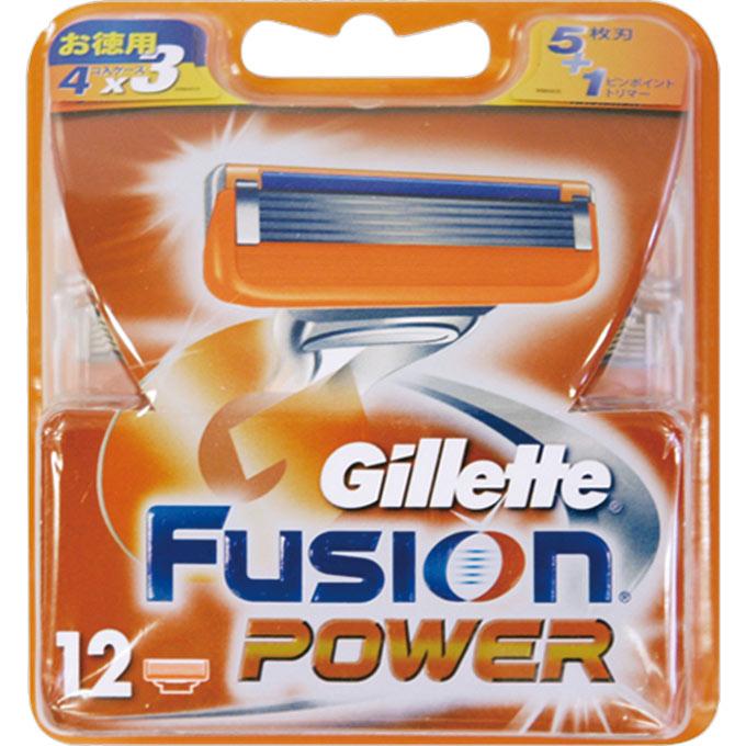 [P&G]ジレット フュージョン5+1パワー 替刃 12個入[送料無料]/髭剃り/カミソリ/かみそり