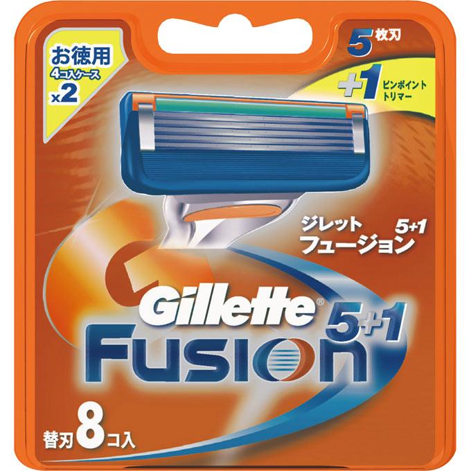 [P&G]ジレット フュージョン5+1 替刃 8個入/髭剃り/カミソリ/かみそり
