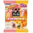 [オリヒロ]ぷるんと蒟蒻ゼリーパウチ ピーチ&マンゴー 20g×12個入/コンニャク/デザート/お弁当/遠足