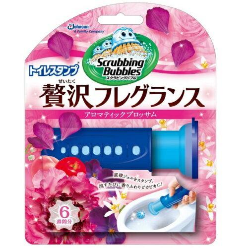 [ジョンソン]スクラビングバブル トイレスタンプ 贅沢フレグランス アロマティックブロッサムの香り 本体 38g/洗浄剤/芳香剤/便器の汚れ