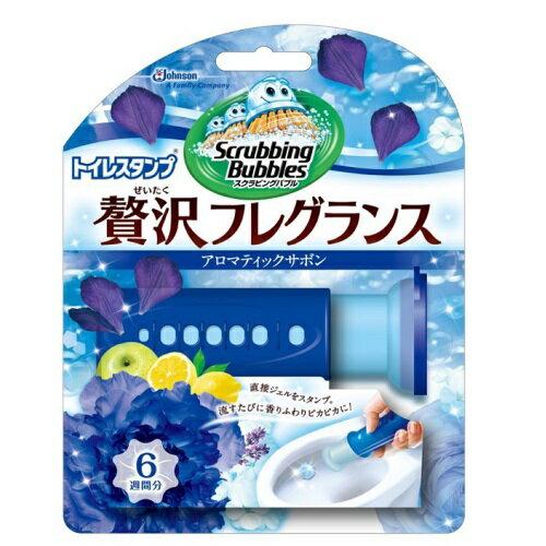 [ジョンソン]スクラビングバブル トイレスタンプ 贅沢フレグランス アロマティックサボンの香り 本体 38g/洗浄剤/芳香剤/便器の汚れ