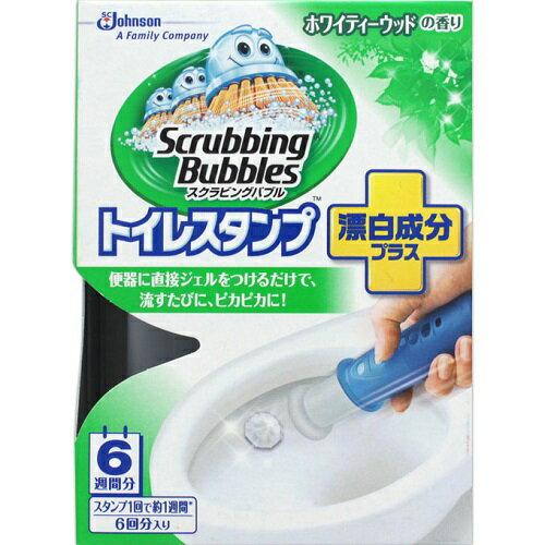 [ジョンソン]スクラビングバブル トイレスタンプ 漂白成分プラス ホワイティーウッドの香り 本体 38g/便器/洗浄剤