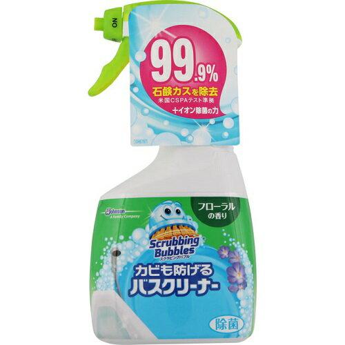 [ジョンソン]スクラビングバブル カビも防げるバスクリーナー フローラルの香り 本体 400ml