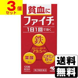 【第2類医薬品】[小林製薬]小粒で飲みやすい ファイチ 120錠【3個セット】