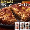 財宝 鹿児島県産 黒豚 ハンバーグ 六白黒薩摩 1440g (120g×12個) 温めるだけ 送料無料 [トマト デミグラス 照り焼き 冷凍]