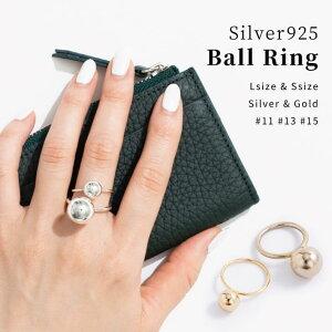 【silver925】ボールリング【レディース アクセサリー 指輪 シルバー925 シルバー ボールモチーフ ブロガーさんご愛用 】
