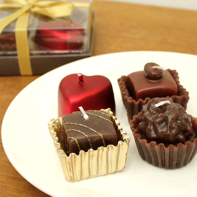 チョコレートキャンドル 4個入り[61100]キャンドル ろうそく チョコレートキャンドル チョコキャンドル セット バレンタイン ギフト プレゼント 贈り物