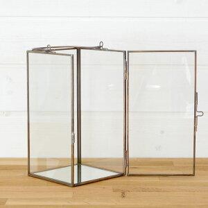 ガラスと真鍮でできた大きなキャンドルランタン(63150)