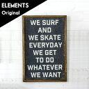ヴィンテージ風アートパネル SURF&SKATE(65021)【 アート フレーム パネル サイン ボード 壁掛け ウォール デコ 木 ウッド ブラック 黒 麻...