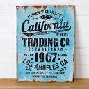 【California】ヴィンテージ風 サインボード(65210)サインプレート アンティーク調 ブリキ看板 ヴィンテージ調 デザインボード TINプレート 西...