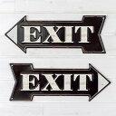 【EXIT】ヴィンテージ風 サインボード(65240)【サインプレート アンティーク調 ブリキ看板 ヴィンテージ調 デザインボード アンティーク風 TINプレー...
